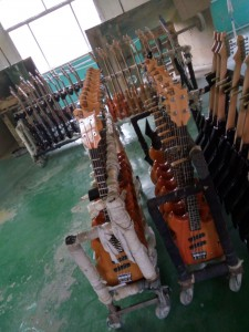 SWB-1 Short Scale bass in factory
