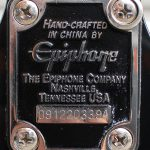 Black Epiphone EB-0 short scale bass neck plate