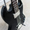 Black Epiphone EB-0 short scale bass front side